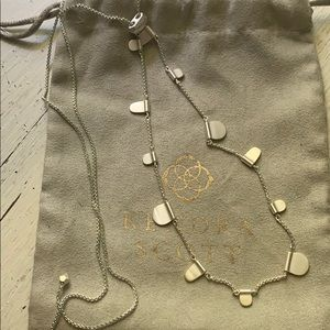 Kendra Scott Olive necklace in rhodium